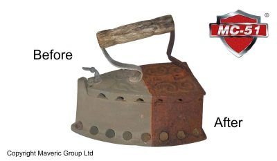 Vintage iron rust removal