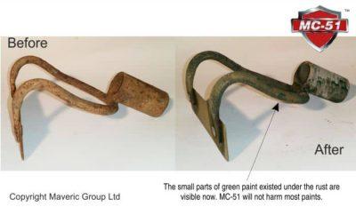Garden tool rust removal